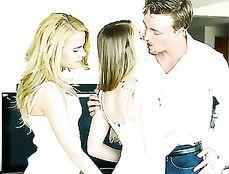 Sexy Cum Kissing Between Hardcore Fucking Babes