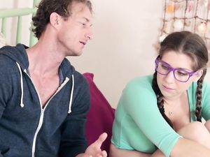Anal Fucking Of A Big Tits Babe In Nerdy Glasses