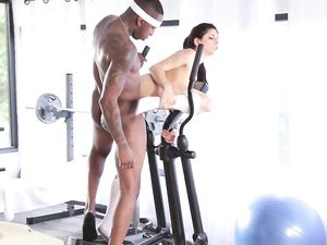 Interracial Workout Turns Into The Best Fucking