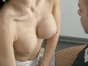 Dressed Up In Sexy Fishnets For Hot Anal Fucking