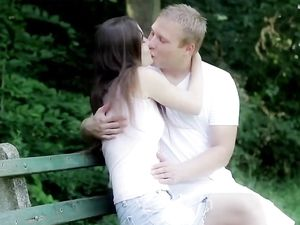 Tender Sex In The Garden With His Beautiful Girlfriend