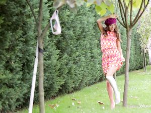 Solo Teen Cutie Flashing Her Panties Outdoors