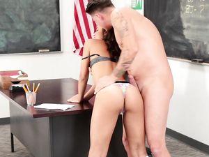 Horny teacher Fucks The Prettiest Schoolgirl