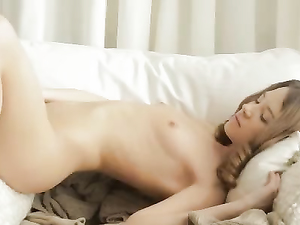 Home Alone Brunette Masturbates Out Of Boredom