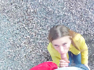 Outdoors POV Banging With A Cute Teen Girlfriend