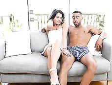 Total Cutie And A Big Black Cock Make Interracial Porn
