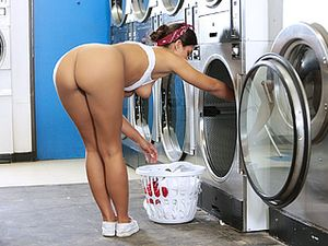 Laundry Day Sex And A Cumshot On Her Fine Ass