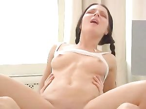 Excited Teen Takes His Cock Into Her Tight Ass