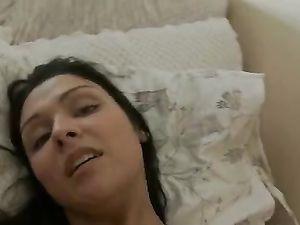 White Panties Babe With A Fine Booty Masturbates