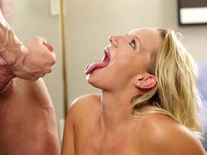Fucking His Girl Hard And Making The Blonde Slut Moan