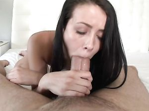 Long And Thick Dick Fucks The Cute Young Brunette