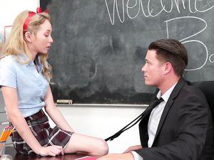 Schoolgirl Seduces Her Teacher And Gets Fucked